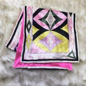 Emilio Pucci Pink Velvet Retro Eye Printed Scarf